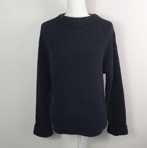 Two one two dark gray knitted sweater
